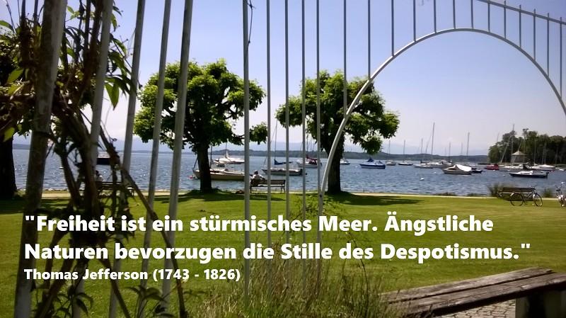 Tutzing am Starnberger See an der Brahmspromenade Freiheit ist Eigenverantwortung